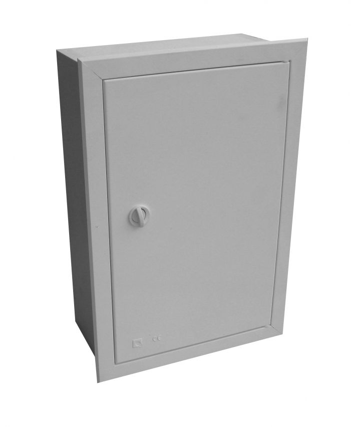 EMPTY BUILT-IN VISBOX BOX WITH DOOR AND FRAME 250X380X130