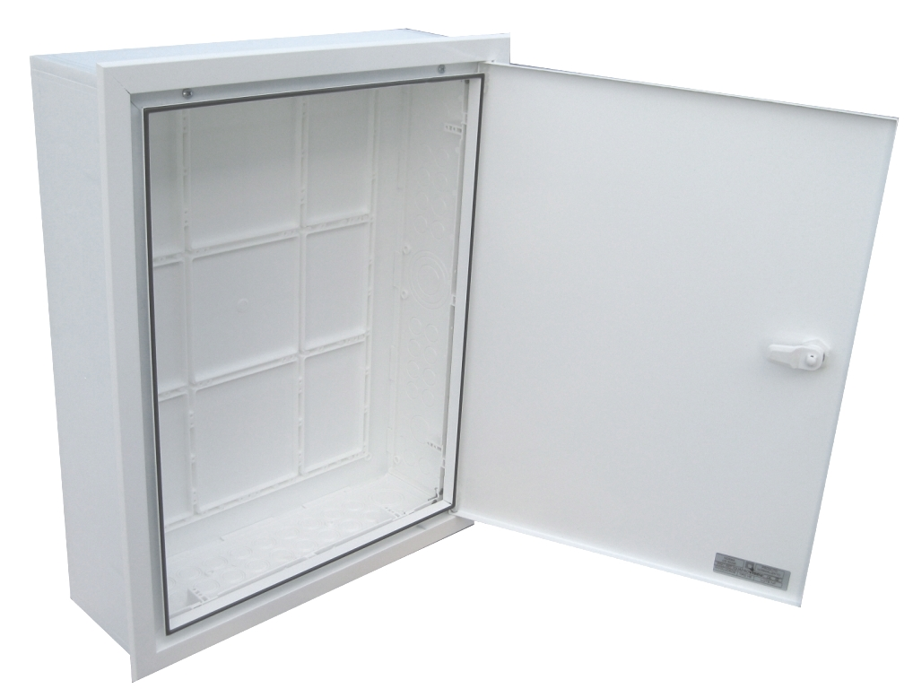 EMPTY BUILT-IN VISBOX BOX WITH DOOR AND FRAME 400X500X130