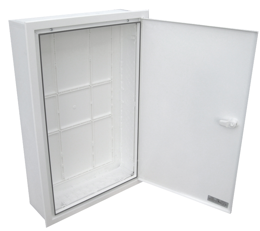 EMPTY BUILT-IN VISBOX BOX WITH DOOR AND FRAME 400X620X130