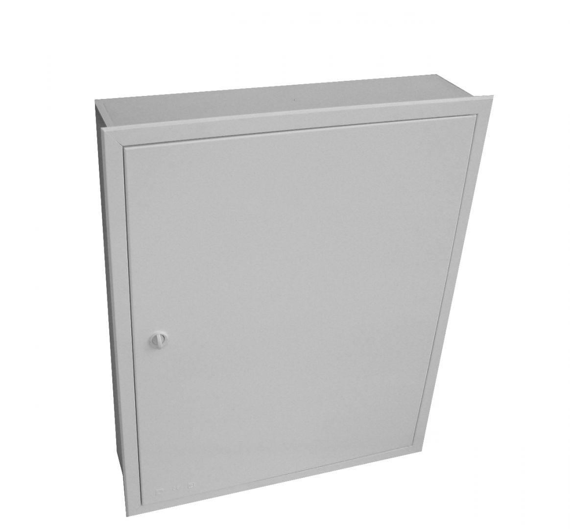 EMPTY BUILT-IN VISBOX BOX WITH DOOR AND FRAME 500X500X130
