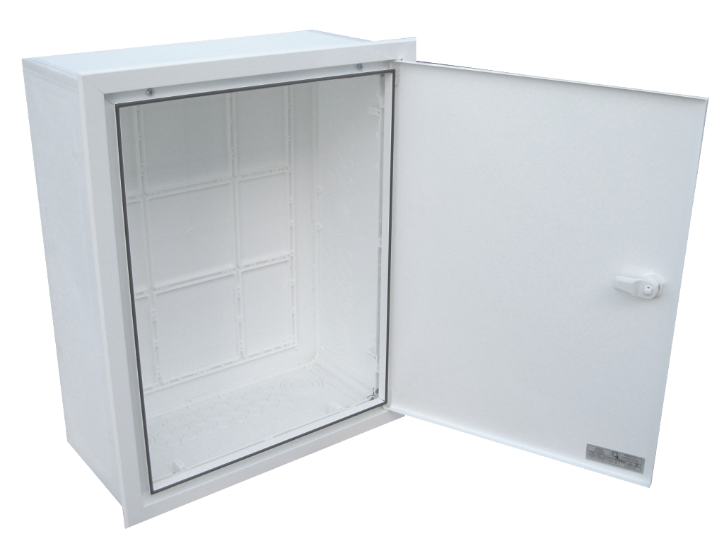 EMPTY BUILT-IN VISBOX BOX WITH DOOR AND FRAME 400X500X200