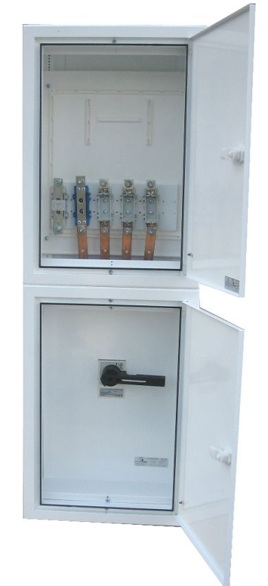 ELECTRIFIED COLUMN BOARDS WITH ONE THREE-PHASE OUTPUT WITH MAIN SWITCH 125 AMPS (WITHOUT BUSBAR)