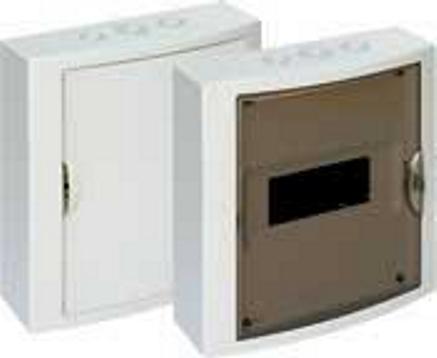 EXTERNAL DISTRIBUTION BOX 8 MOD. WITH OPAQUE DOOR